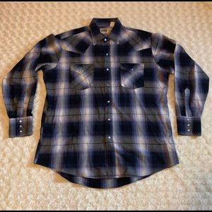 Ely Cattleman Western Pearl Snap Shirt Plaid